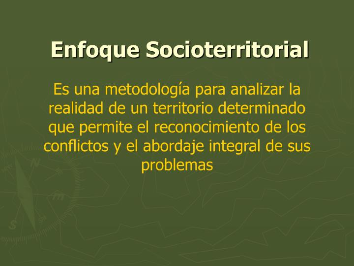 Enfoque socioterritorial
