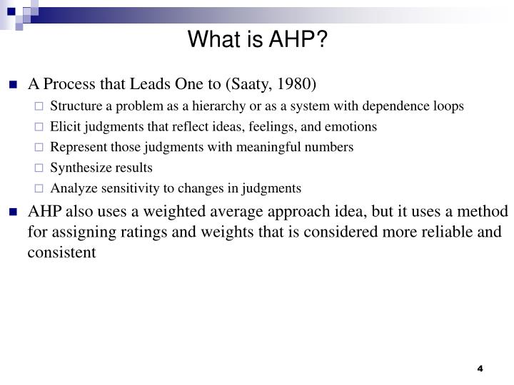 What is AHP?