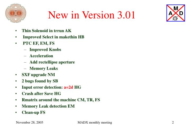 New in version 3 01