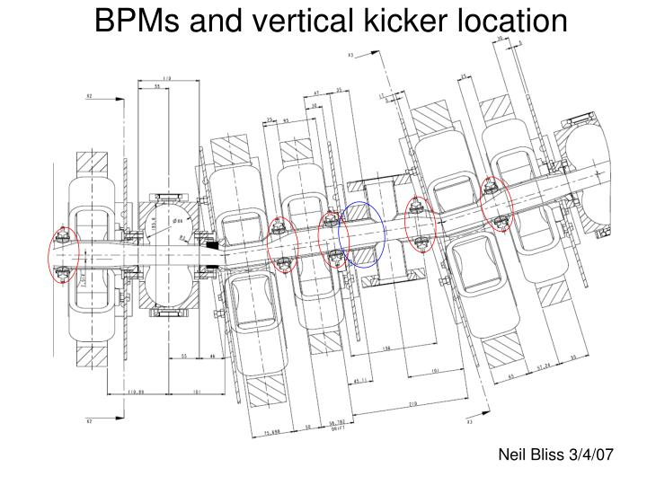 BPMs and vertical kicker location