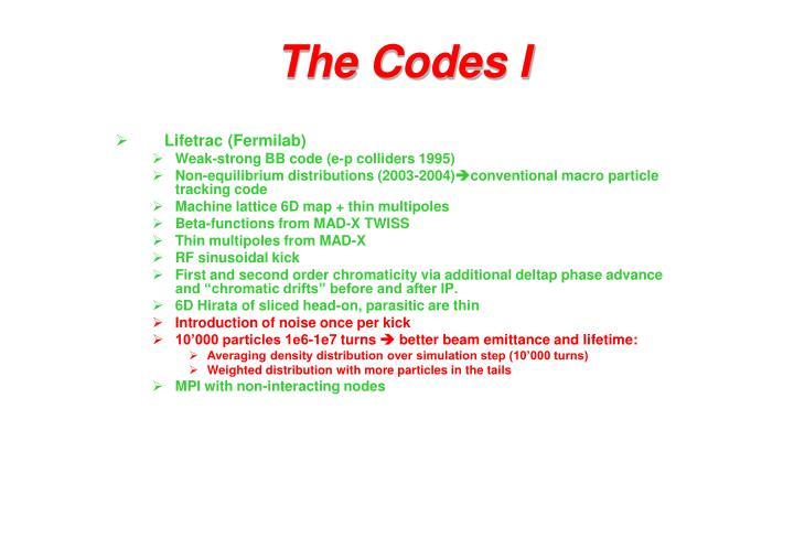The Codes I