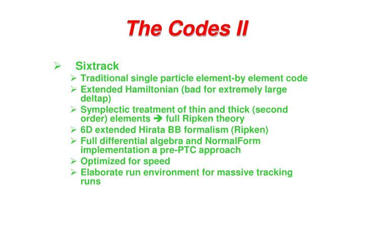 The Codes II