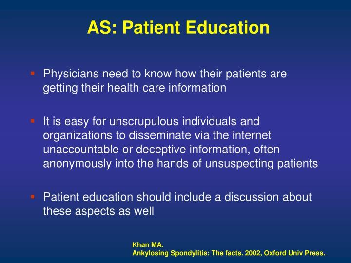 AS: Patient Education