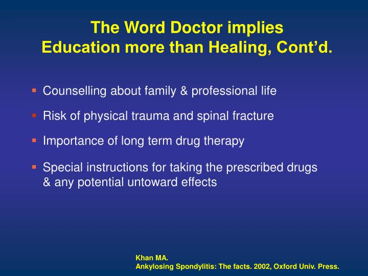 The Word Doctor implies