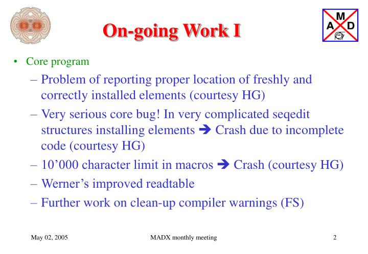 On-going Work I