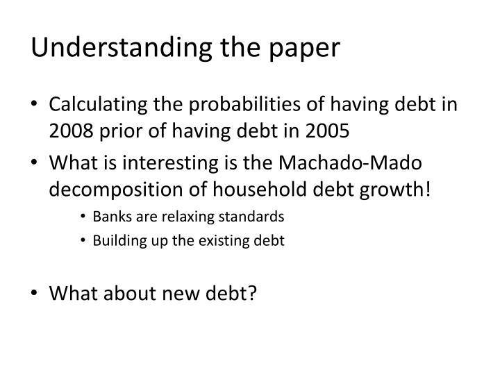 Understanding the paper