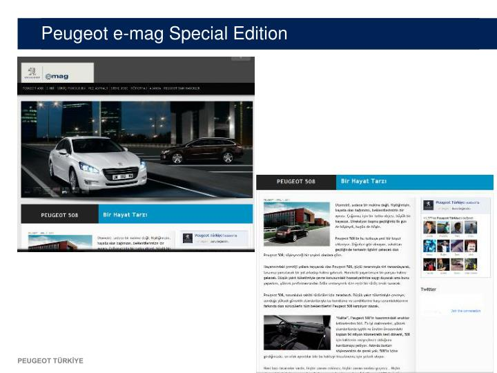 Peugeot e-mag Special Edition
