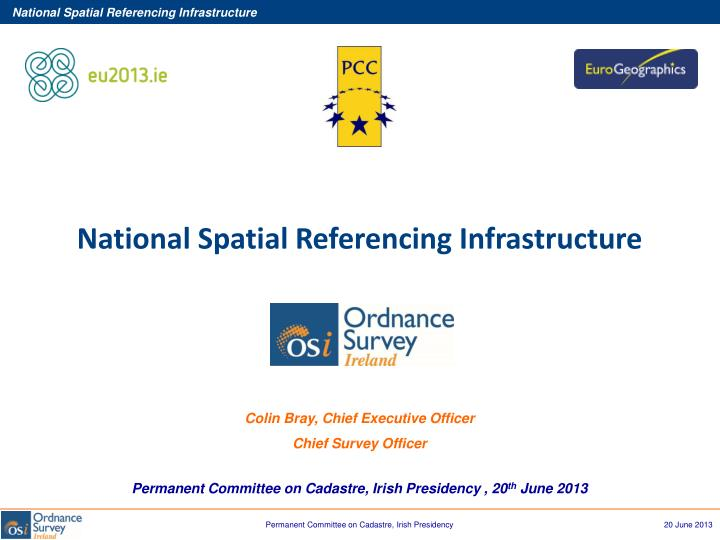 National Spatial Referencing Infrastructure