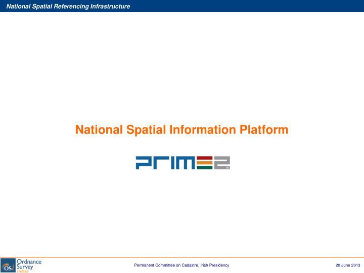 National Spatial Information Platform