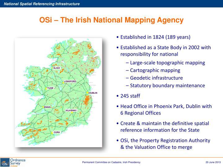 OSi – The Irish National Mapping Agency