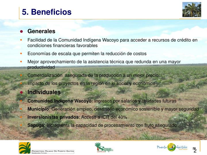 5. Beneficios