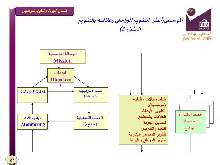 التقويم البرامجي وعلاقته بالتقويم