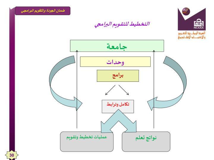 التخطيط للتقويم البرامجي