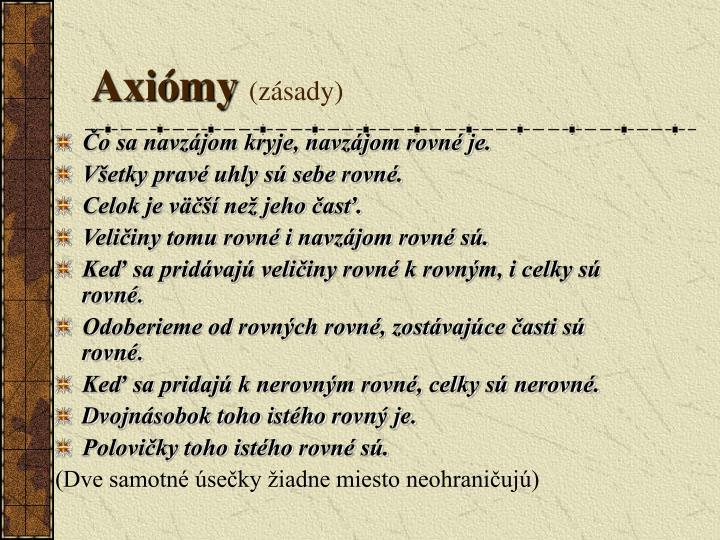 Axiómy