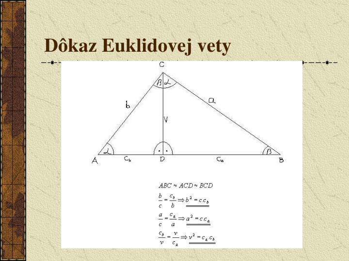 Dôkaz Euklidovej vety