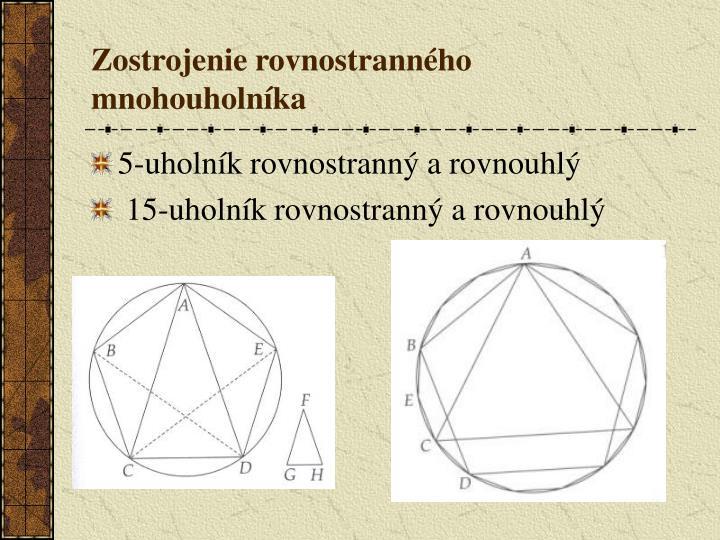 Zostrojenie rovnostranného mnohouholníka