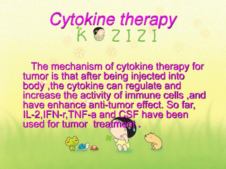 Cytokine therapy