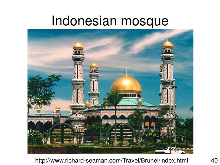 Indonesian mosque