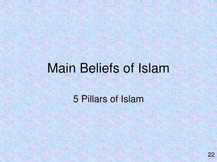 Main Beliefs of Islam