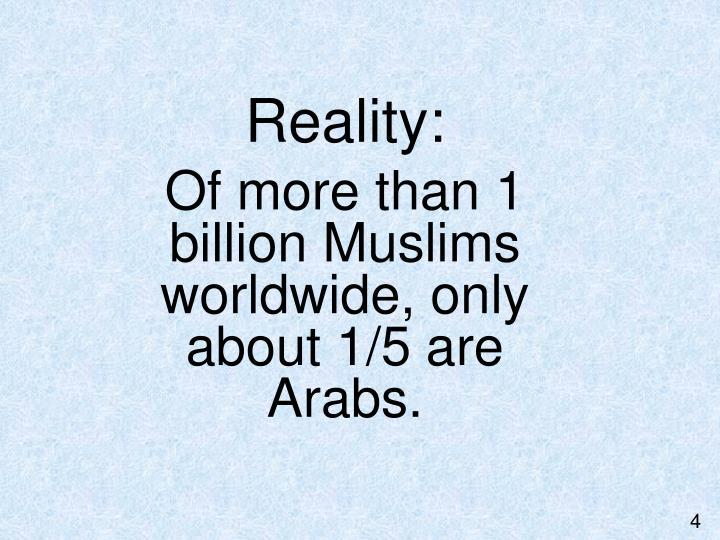 Reality: