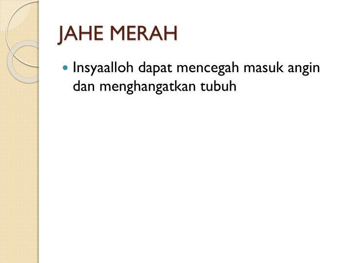 JAHE MERAH