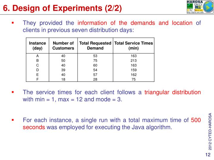 6. Design of Experiments (2/2)