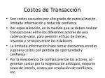 costos de transacci n
