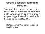 factores clasificados como semi transables
