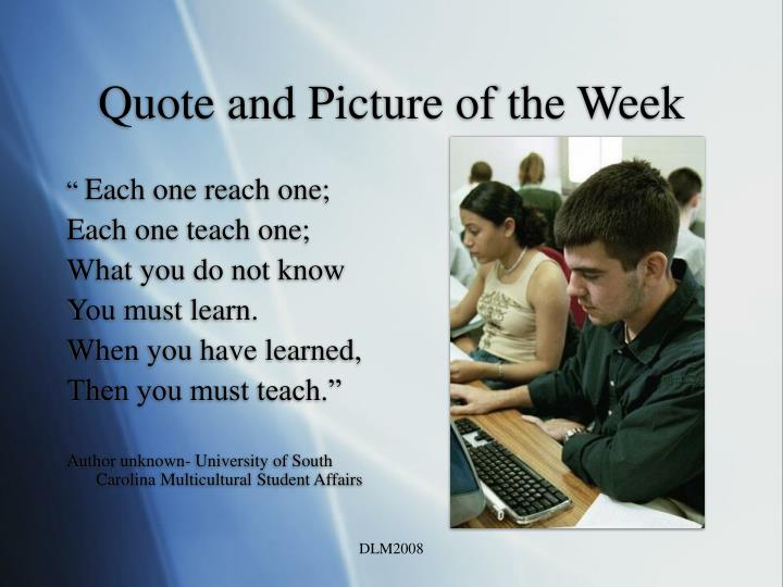 Quote and Picture of the Week