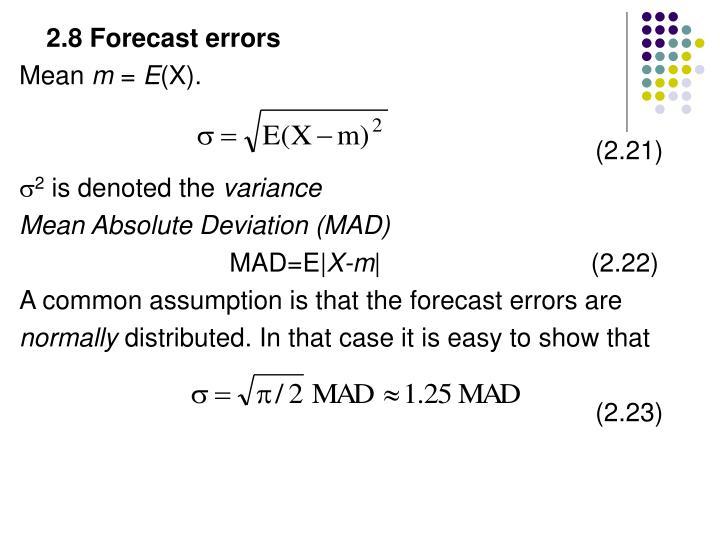 2.8 Forecast errors