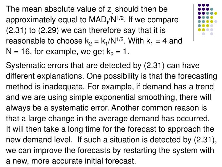 The mean absolute value of z