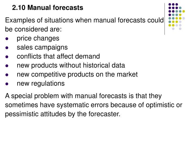 2.10 Manual forecasts