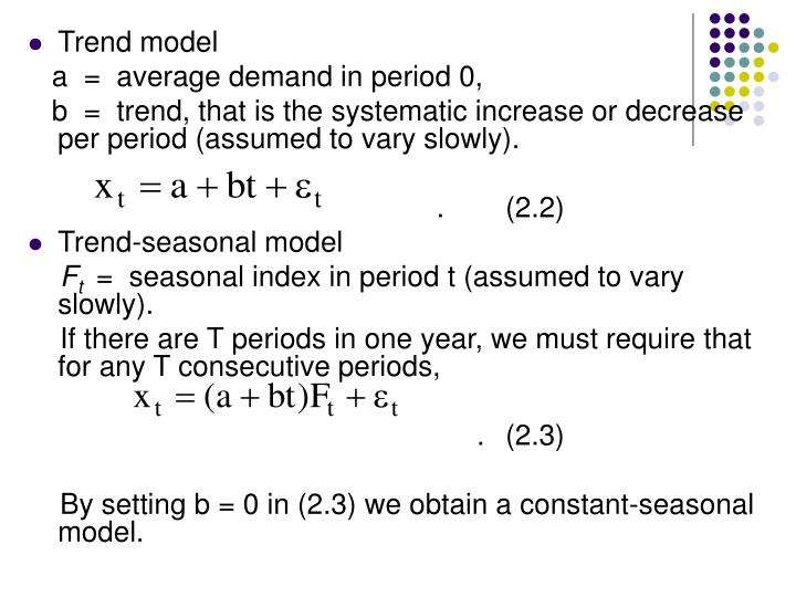 Trend model