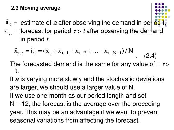 2.3 Moving average