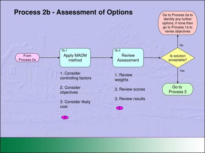 Process 2b - Assessment of Options