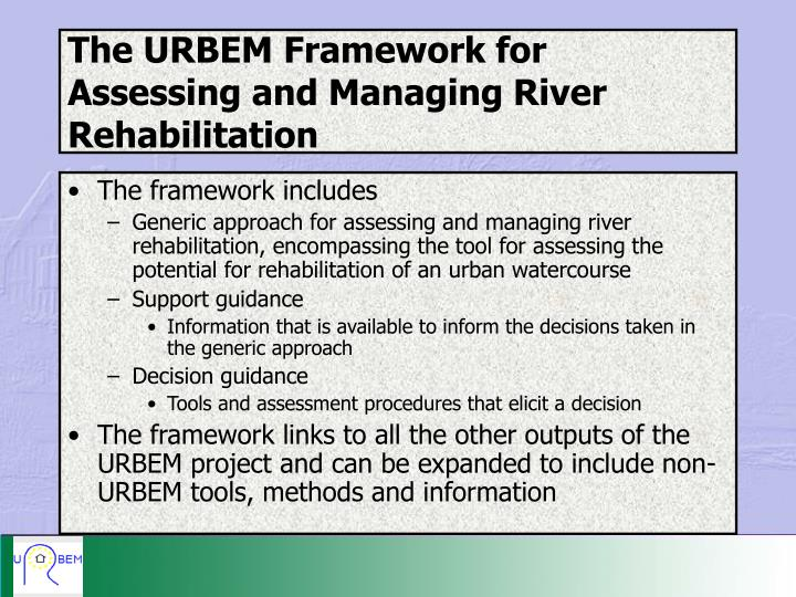 The URBEM Framework for Assessing and Managing River Rehabilitation