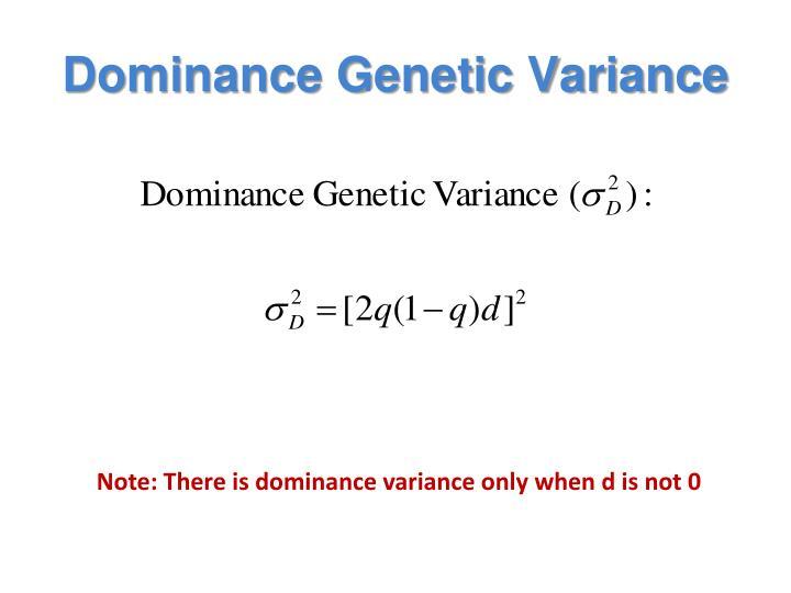 Dominance Genetic Variance