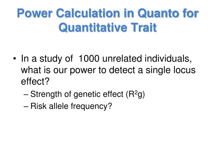 Power Calculation in