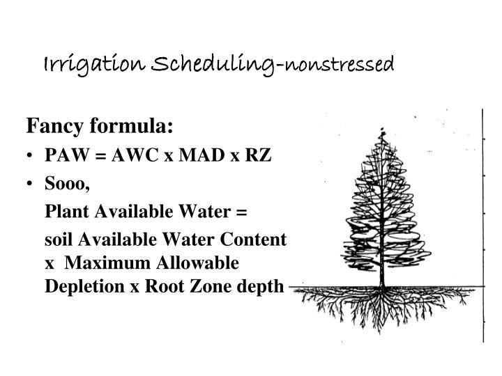 Irrigation Scheduling-