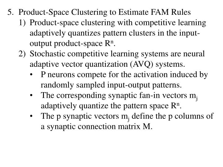 Product-Space Clustering to Estimate FAM Rules