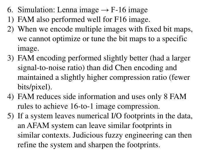 Simulation: Lenna image → F-16 image