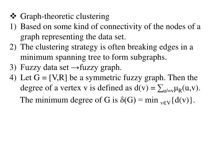Graph-theoretic clustering