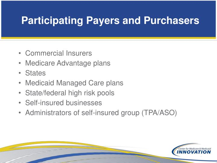 Participating Payers and Purchasers