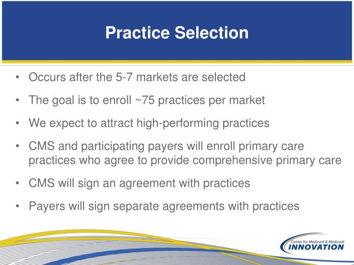 Practice Selection
