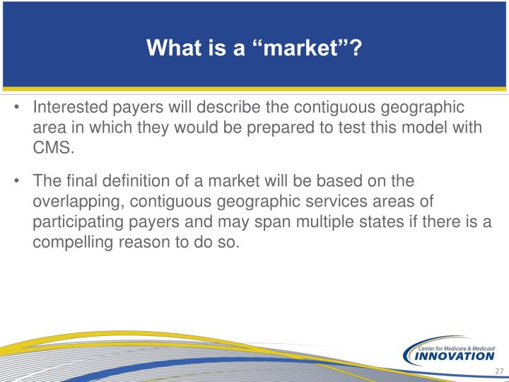 """What is a """"market""""?"""