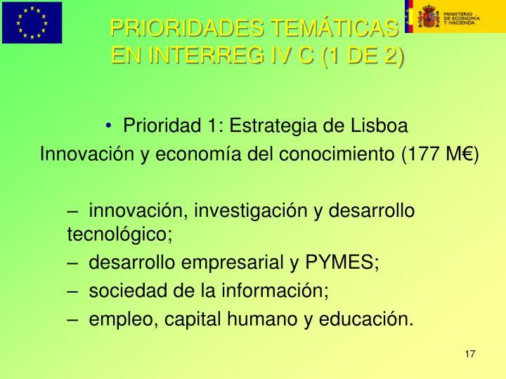 PRIORIDADES TEMÁTICAS