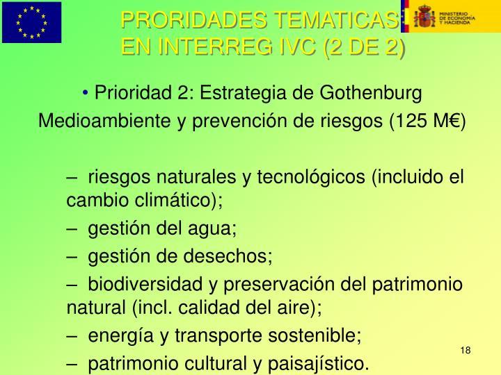 PRORIDADES TEMATICAS