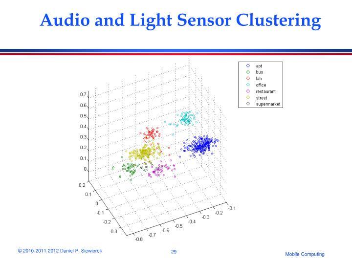 Audio and Light Sensor Clustering