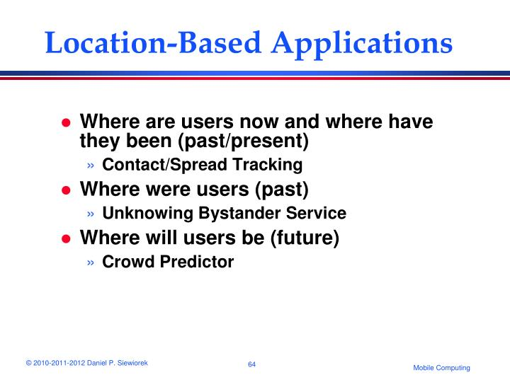 Location-Based Applications