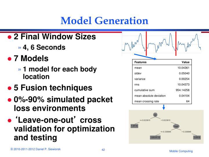 Model Generation